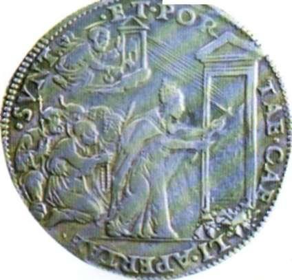 Anverso de un testone de plata